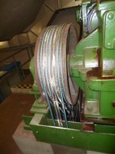 Fabrikneue Seile wurden gepudert.