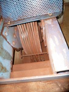 Erheblicher Rost an den Seilen mit starkem Abrieb